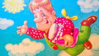Малыш и Карлсон мультик, собираем пазл карлсон, советские мультфильмы