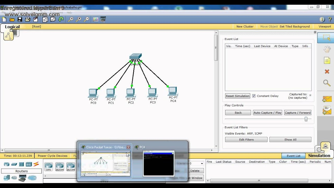 ARP-Cisco Packet Tracer