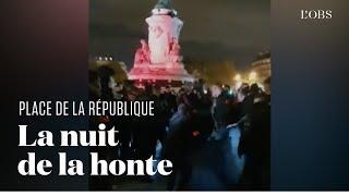 La violente évacuation d'un camp de migrants place de la République à Paris
