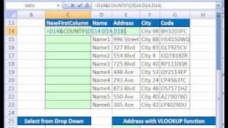 Excel Magic Trick # 159: VLOOKUP Duplicates 1st Column