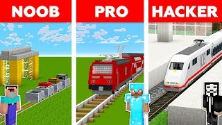 Minecraft NOOB vs PRO vs HACKER :BAHNHOF HERAUSFORDERUNG in minecraft / Animation