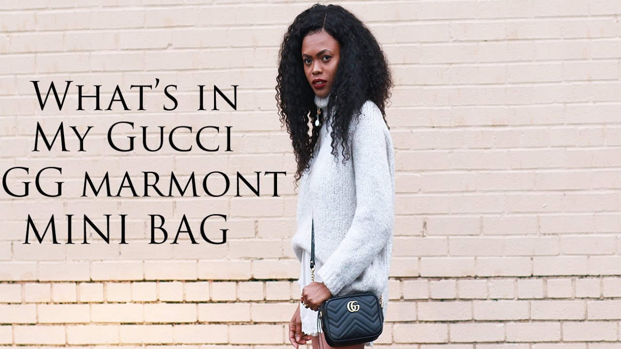 473ff41621e6 What's in my Gucci GG Marmont Mini Camera Bag / Dadouchic - YouTube