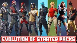 The Evolution of All Fortnite Starter Packs! (Season 1 - Season 10)