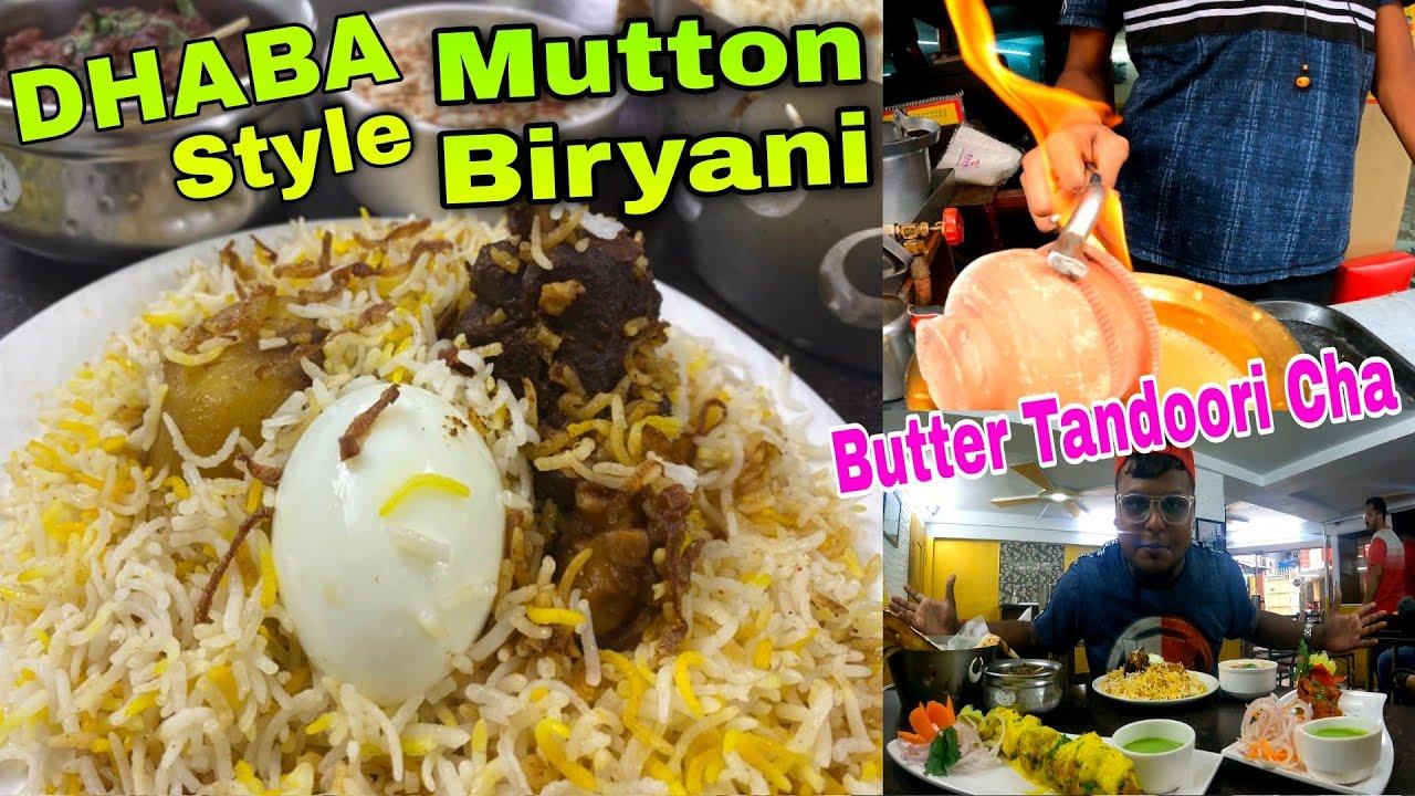 Dhaba Style Mutton Biryani Rs 110/- 🔥|Mutton Kosha Butter Nun Chicken Malai Kebab @KOLKATA FOODY
