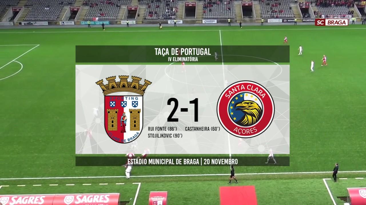 SC Braga: SC BRAGA 2- 1 SANTA CLARA - YouTube