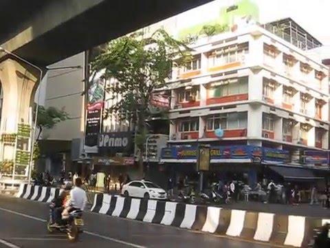 Silom Road (Bangkok) morning walk to work