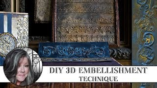 ⚙ DIY 3D Embellishment Technique ⚙