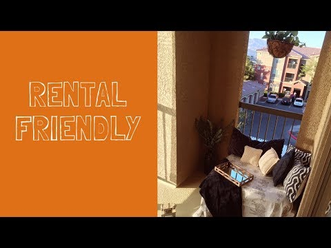 Apartment Balcony Makeover! Pinterest Inspired | On A Budget