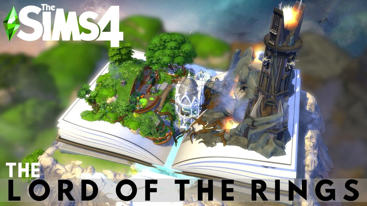MAGIC BOOK | THE LORD OF THE RINGS | The Sims 4 Speed Build | NOCC