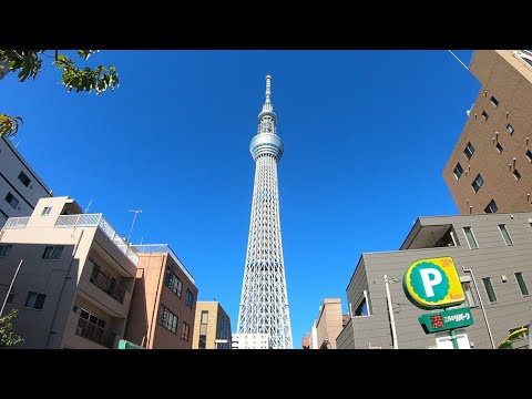 Walk From Kinshicho To Tokyo Skytree-錦糸町駅から東京スカイツリーまでの散歩-4K