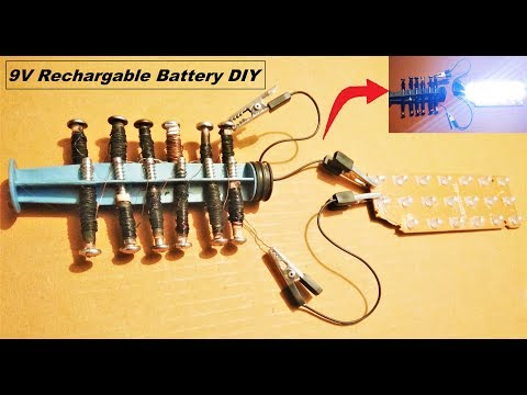 How to make a rechargable salt battery using screws - Science Project