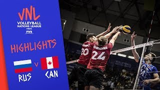 RUSSIA vs. CANADA - Highlights Men | Week 3 | Volleyball Nations League 2019