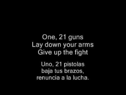 Green Day - 21 Guns (With Lyrics + Con Letra)