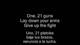 Green Day - 21 Guns (With Lyrics + Con Letra)