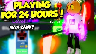 I Played Ninja Legends For 24 HOURS Trying To Get The Best Rank... Here's What Happened (Roblox)