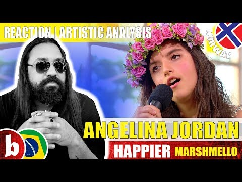ANGELINA JORDAN! Happier (Marshmello) - Reaction (SUBS)