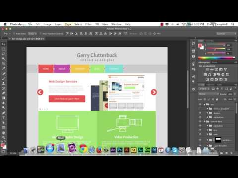 PSD To HTML -- Flat Design Build: The Starting Files