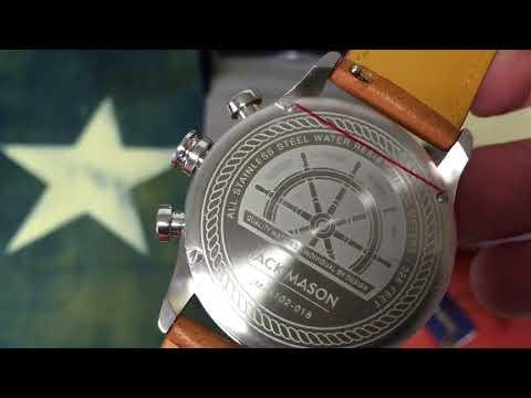 Jack Mason Nautical Chronograph JM-N102-018 Watch Unboxing