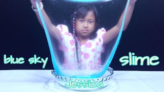 Mainan SLIME 💖 Membuat SLIME Blue SKY 💖 MAINAN ANAK PEREMPUAN 💖 Lets Play 💖 Jessica 💖