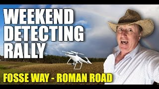 Metal detecting rally on Fosse Way roman road