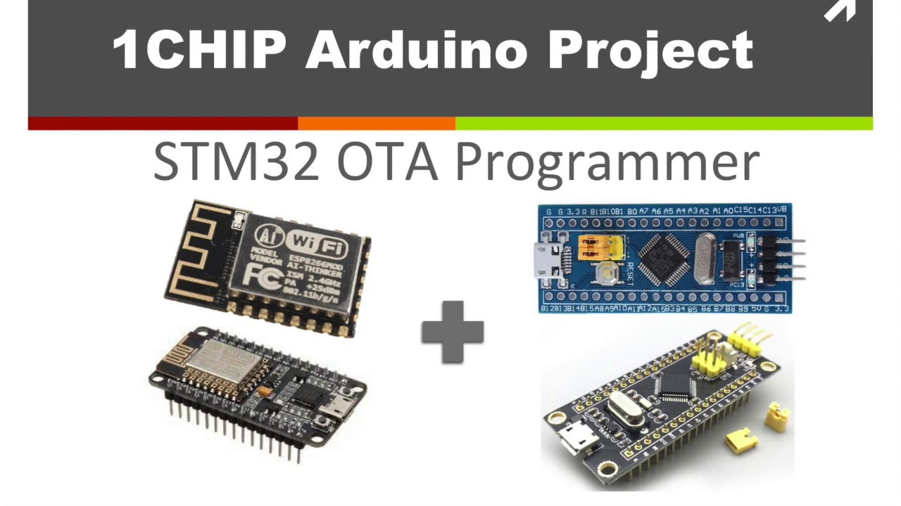 1CHIP: STM32 OTA Programmer with NodeMCU(ESP8266 based)