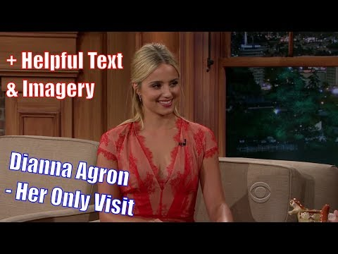 "Dianna Agron - ""I've Laughed More On This Show, Than Any Other"" - Her Only Appearance [+Texmagery]"