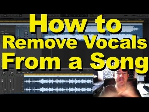 Removing Vocals From a Song
