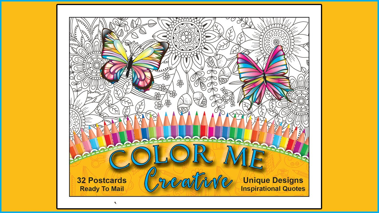 Adult Coloring Book Of Postcards