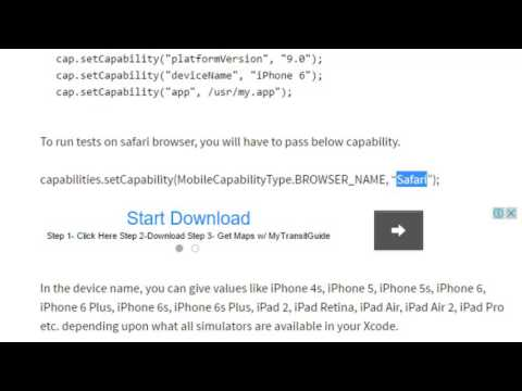 Desired Capabilities For IPhone And IPad In Appium