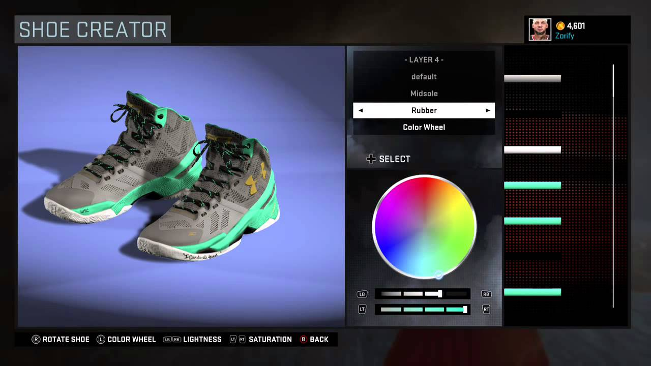 NBA 2K16 Shoe Creator - Under Armour