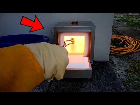 melting-copper-into-a-bar(dental-furnace)