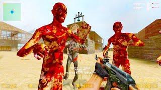 Counter Strike Source - Zombie Horde Mod Online Gameplay on Eldorado map