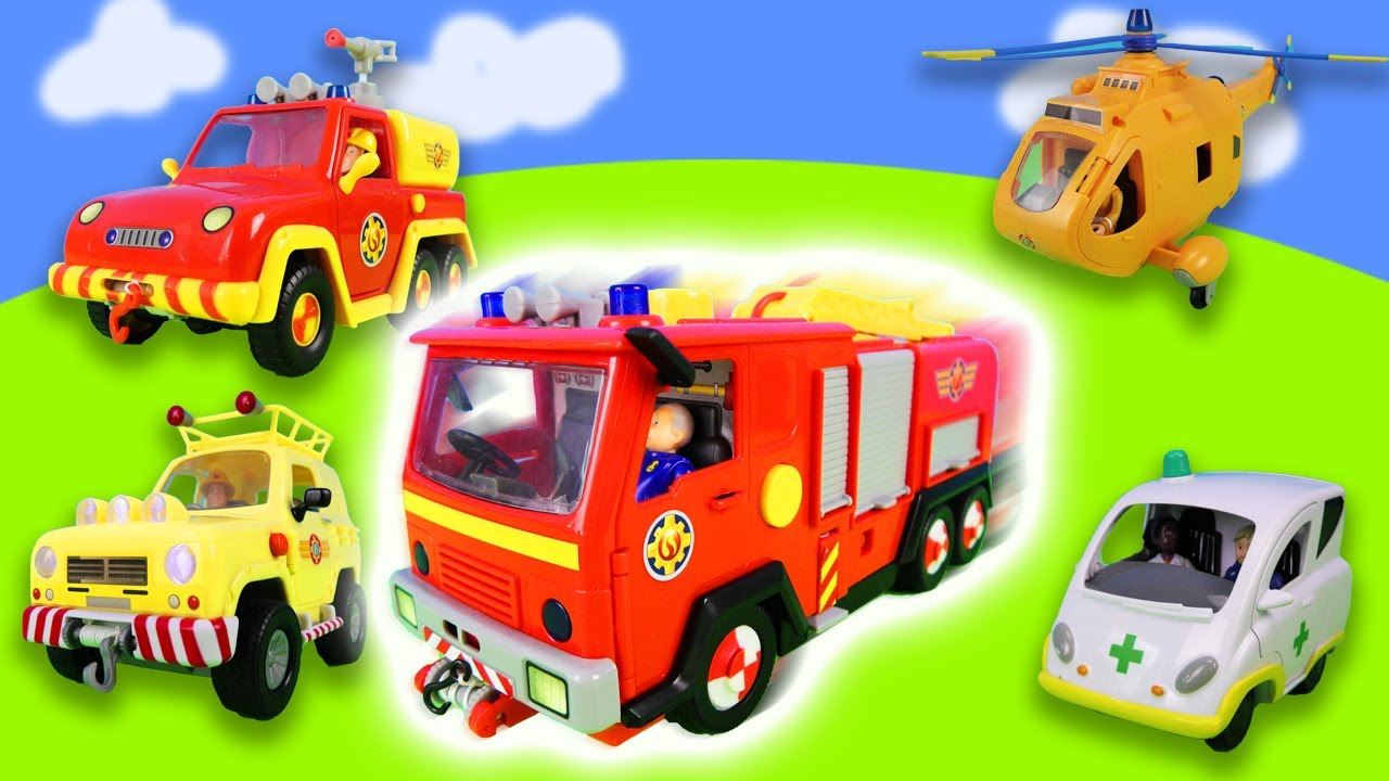 Big dangerous fire in the supermarket! Fireman Sam is back on a rescue mission!