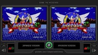 Regional Differences [06] Sonic The Hedgehog (USA vs JPN) Genesis vs Mega Drive (Region Comparison)