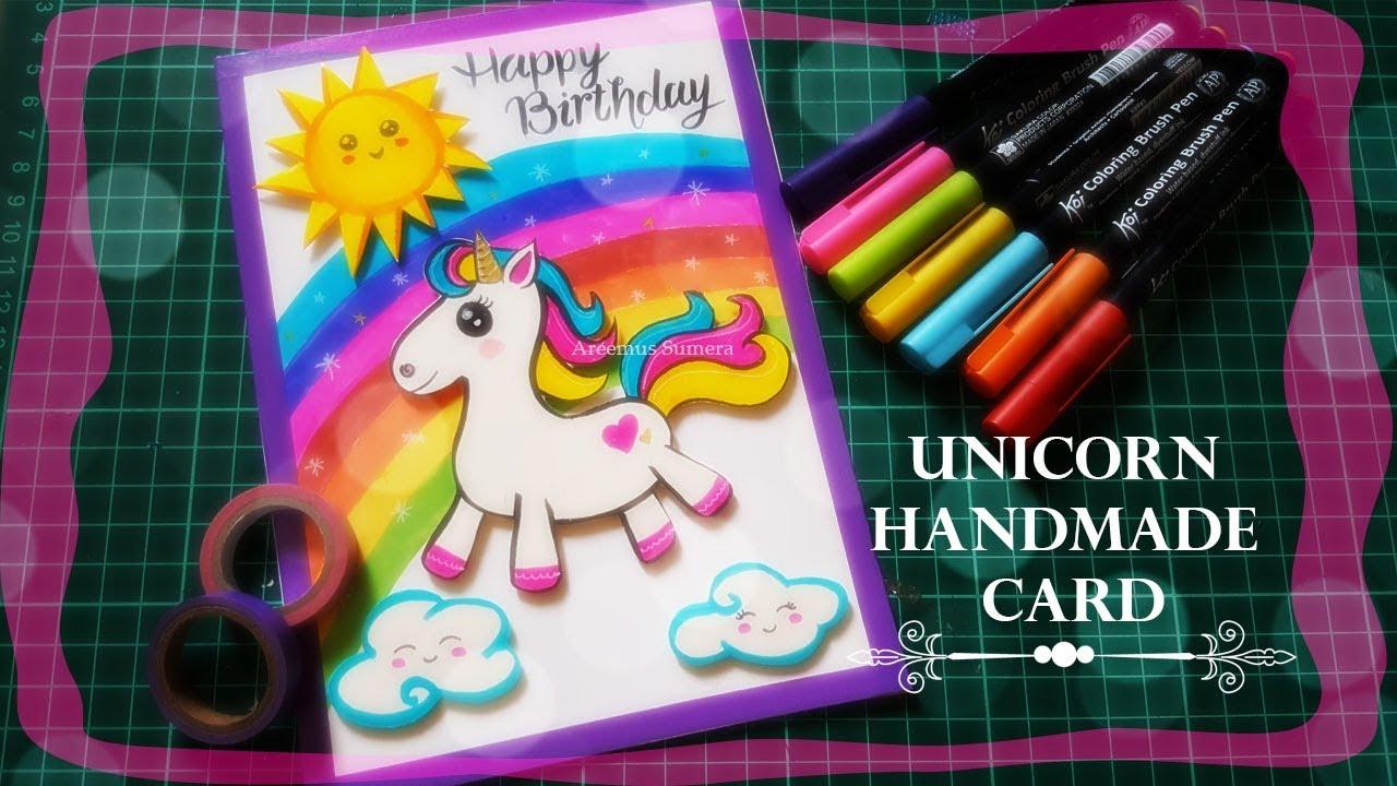 DIY Unicorn Birthday Card