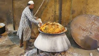 Hyderabadi Mutton Dum Biryani making Process   حيدر آباد لحم ضأن دوم برياني صنع عملية