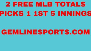FREE MLB picks 04/14/18 two totals plays one is first 5 innings
