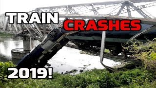 Train Crashes Caught on Video (compilation) - Train Disasters
