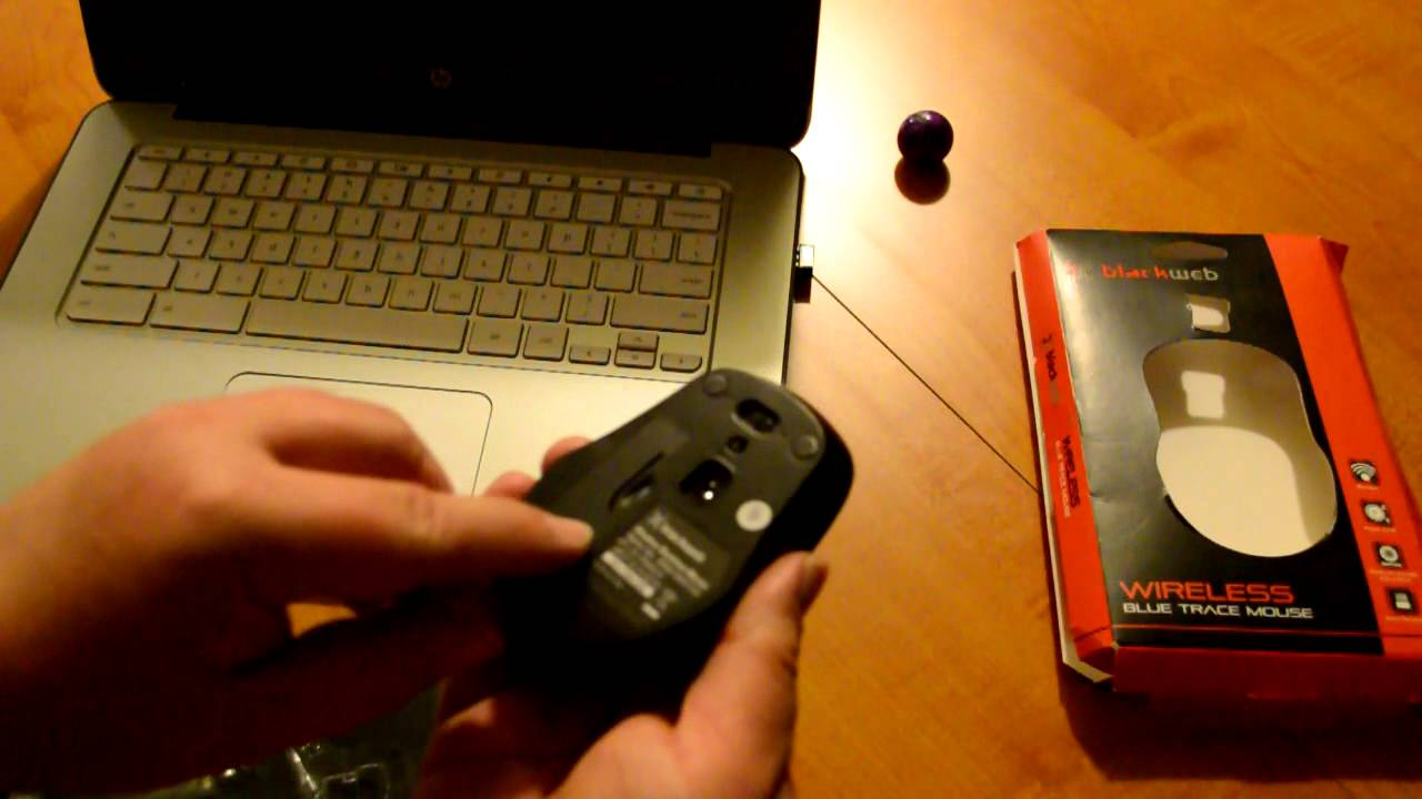 Blackweb Wireless Blue Trace Mouse: Unbox and Install