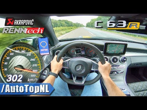 745HP Mercedes AMG C63 R 300km/h+ AUTOBAHN POV By AutoTopNL