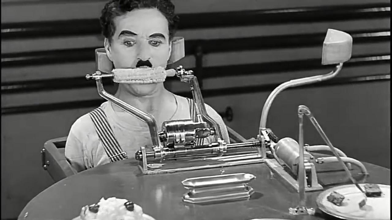Charlie Chaplin Eating Machine