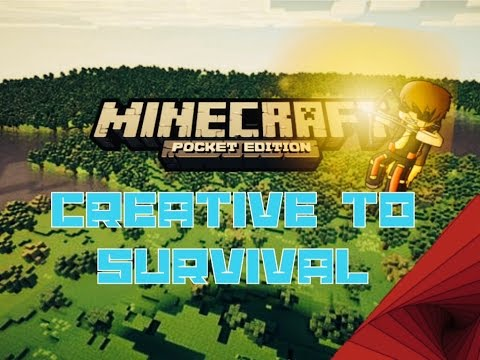 Minecraft Pocket Edition How To Change Creative To Survival