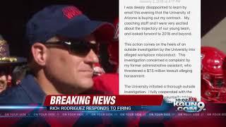 Arizona fires head coach Rich Rodriguez
