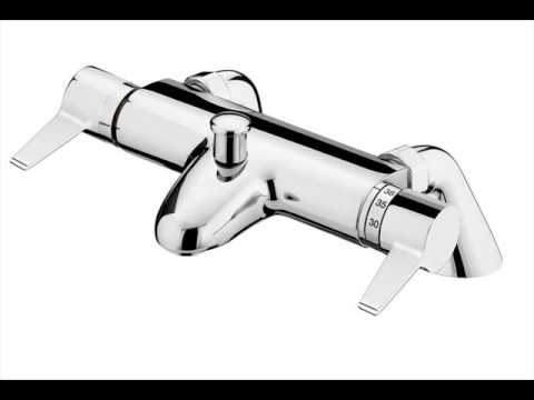 Bath Shower Mixer Taps Thermostatic thermostatic bath shower mixer with modern slider rail kit - youtube