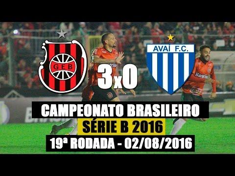 G.E.Brasil 3X0 Avaí - Campeonato Brasileiro Série B - 02/08/2016