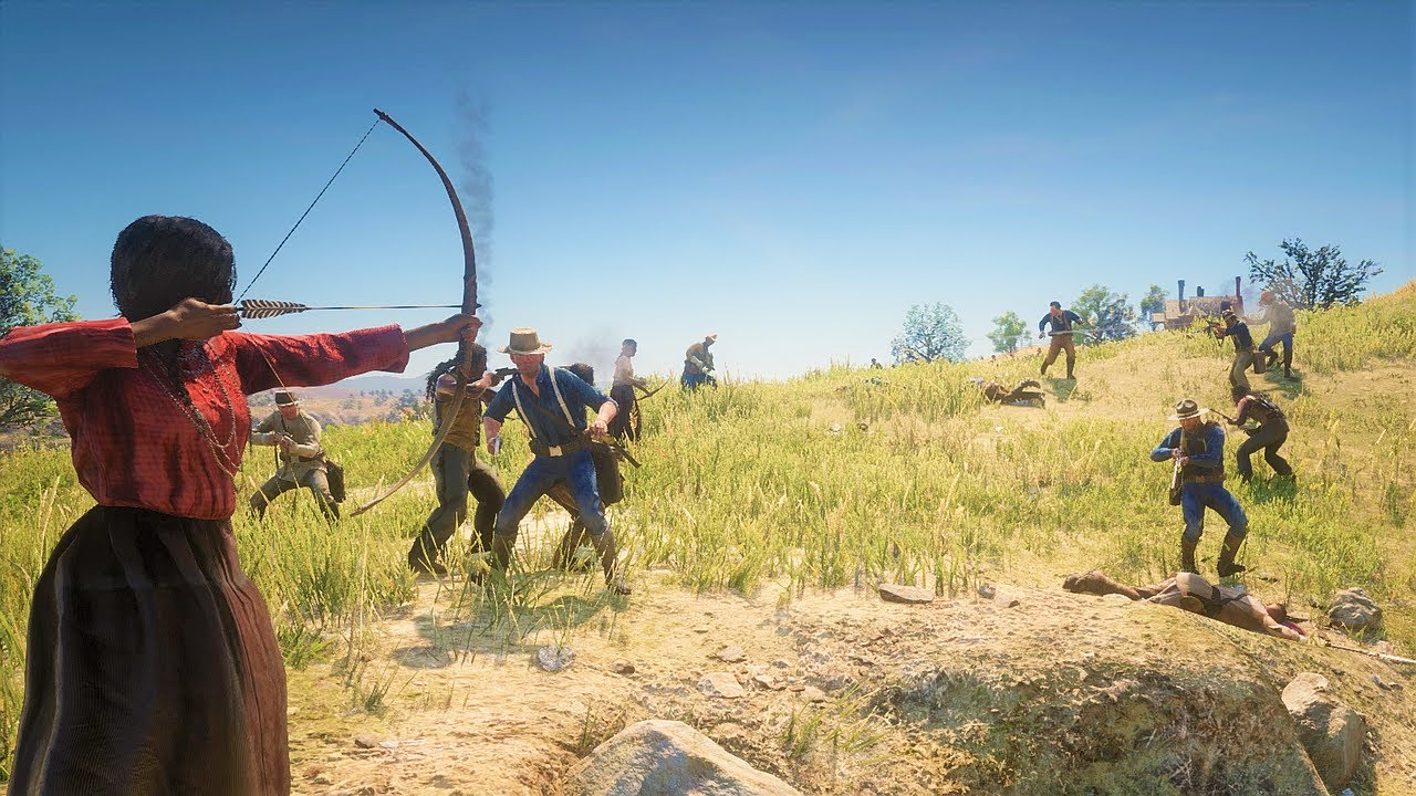 RED DEAD REDEMPTION 2 NPC Wars 36 (Wapiti Indians Edition)