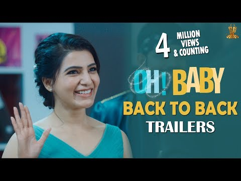 Oh Baby Back To Back Trailers | Samantha Akkineni,  Mickey J Meyer, Nandini Reddy
