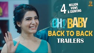 Oh Baby Back To Back Trailers | Samantha Akkineni,  Mickey J Meyer, Nandini Reddy
