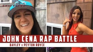 Video Of Bayley & Peyton Royce Have A John Cena Rap Battle (Special Guest At End)