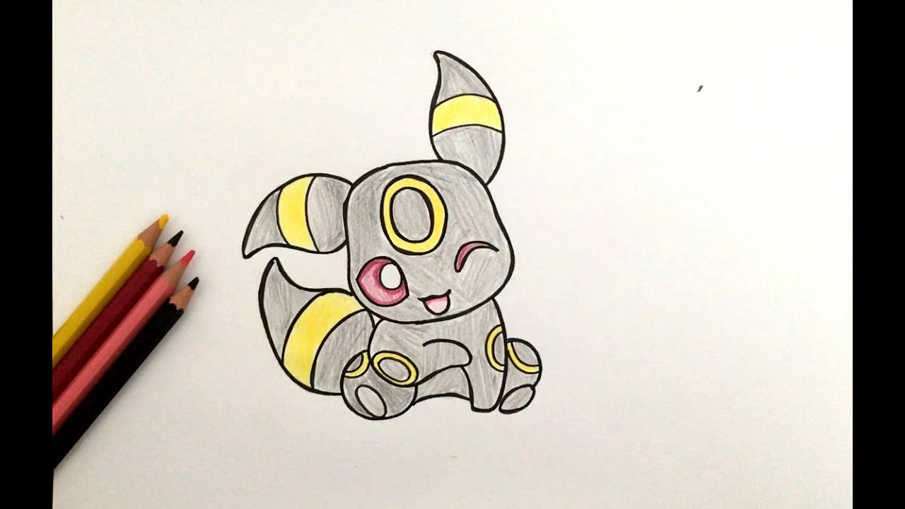 How To Draw Baby Umbreon Pokémon
